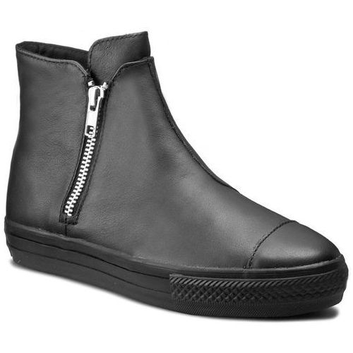 Converse Sneakersy - ctas high line premium leather 553312c black/black/black