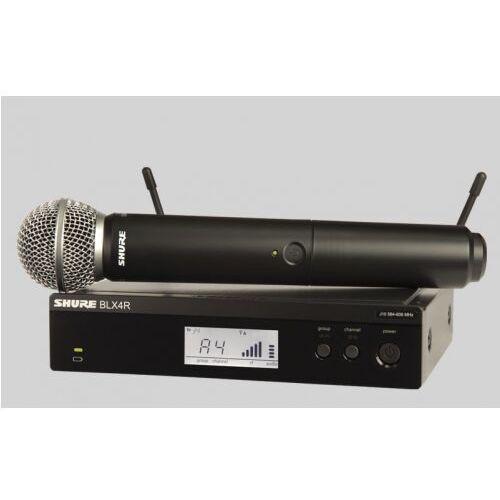 Shure BLX24R/SM58 SM Wireless mikrofon bezprzewodowy doręczny SM58, odbiornik w obudowie 1/2 rack 19″