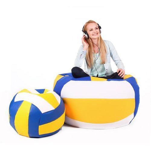 Polskie pufy Pufa, volleyball - piłka - zestaw xxxl+l