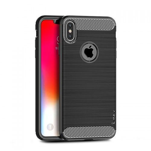 Etui Ipaky Drawing Carbon Iphone XS Max Czarne, kolor czarny