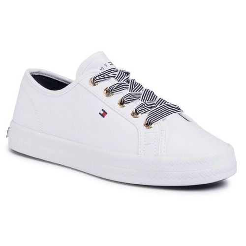Sneakersy - essential nautical sneaker fw0fw04848 white ybs, Tommy hilfiger, 36-41