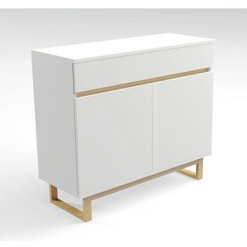 Komoda biała z szufladą deskom3/1 w stylu skandynawskim marki Womeb