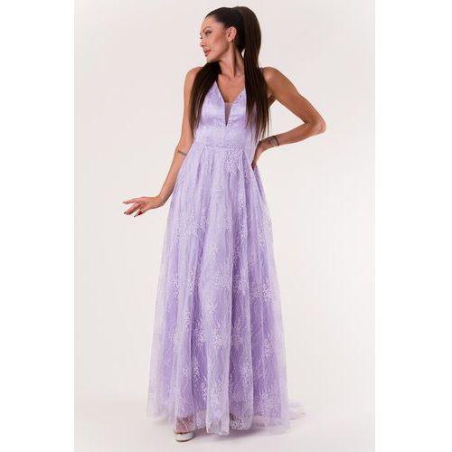 Eva & lola sukienka jasny fiolet 60007-1, Eva&lola