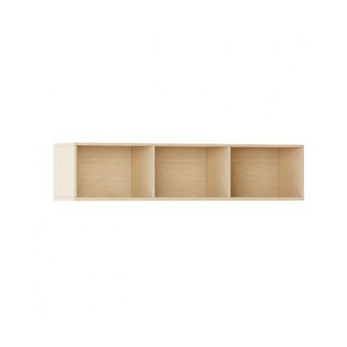 Biblioteka INTEGRO s półkami, niższa, 465 x 1750 x 400 mm, 3 półki, buk