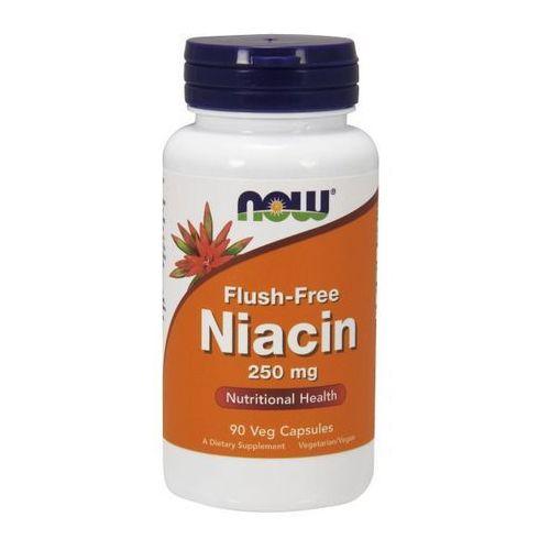 Kapsułki Now Foods Flush-Free Niacin (Niacyna + Inozytol) 250mg 90 kaps.