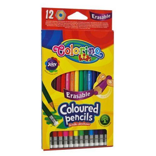 Kredki ołówkowe wymazywalne 12 kolorów Colorino