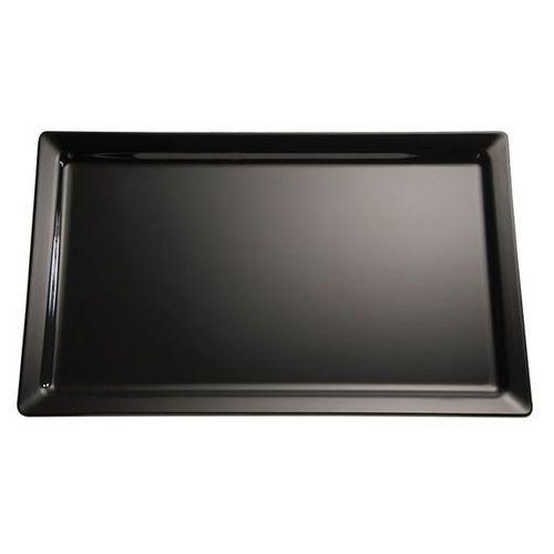 Półmisek prostokątny z melaminy GN 2/4 530x162 mm, czarny | APS, Pure