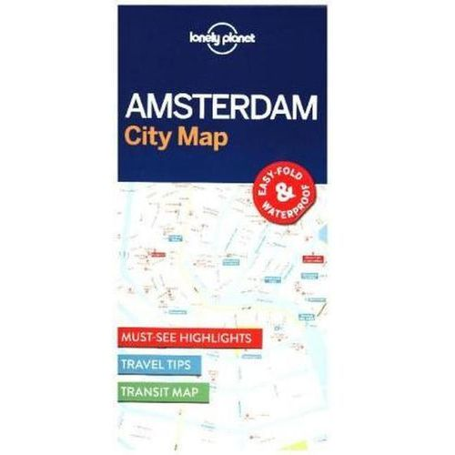 Lonely Planet Amsterdam City Map (2 str.)