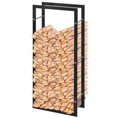 vidaXL Stojak, prostokątny kosz na drewno kominkowe 100 cm