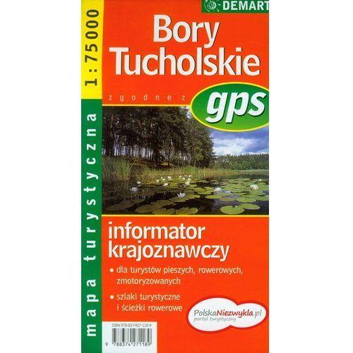 Bory Tucholskie. Mapa turystyczna, praca zbiorowa
