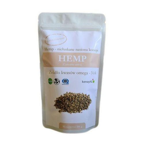Hemp organiczne niełuskane nasiona konopi 250g, KENAY