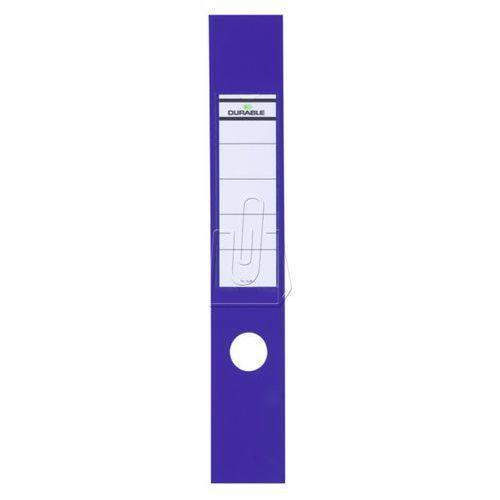 Etykiety na segregator Durable 60x390 niebieskie 10 szt. 8090-06 (4005546846040)