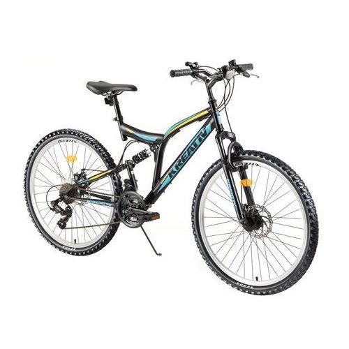 """Rower z amortyzatorami 2643 26"""" - model 2018, szary marki Kreativ"""