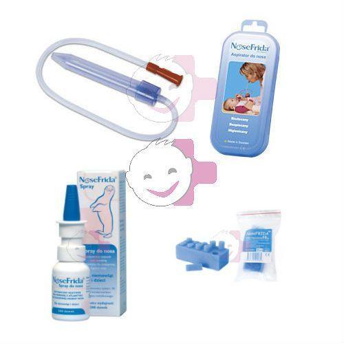 NoseFrida Aspirator do nosa/filtry/spray do nosa ZESTAW (gruszka dziecięca) od Apteka Dziecka