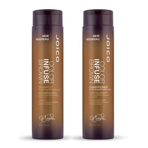 Joico Color Infuse Brown Zestaw podkreślający kolor włosów brązowych | szampon 300ml + odżywka 300ml (0744694402336)