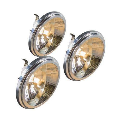 Zestaw 3 żarówek halogenowych G53 QR111 50W 12V - sprawdź w lampyiswiatlo.pl