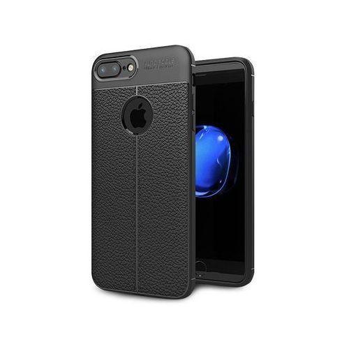 Etui pancerne Alogy leather case TPU iPhone 7/8 Plus czarne, kolor czarny