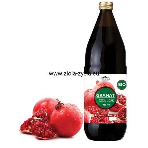 100% sok z Granatu BIO (1000 ml) - Dr Gaja - Pochodzi z ekologicznych upraw