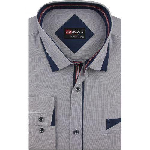 3357913bb Koszula Męska Modely gładka szara melanż SLIM FIT na długi rękaw D908 58,00  zł Oddajemy w Państwa ręce wysokiej klasy koszulę męską marki Modely.