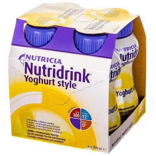 Nutridrink Yoghurt Style waniliowo-cytrynowy 4 x 200ml (lek witaminy i minerały)