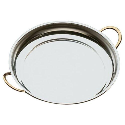 Półmisek okrągły z uchwytami w kolorze złota o średnicy 400 mm | APS, 61400