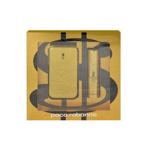 Paco rabanne 1 million m zestaw perfum edt 50ml + 10ml edt (3349668535033)