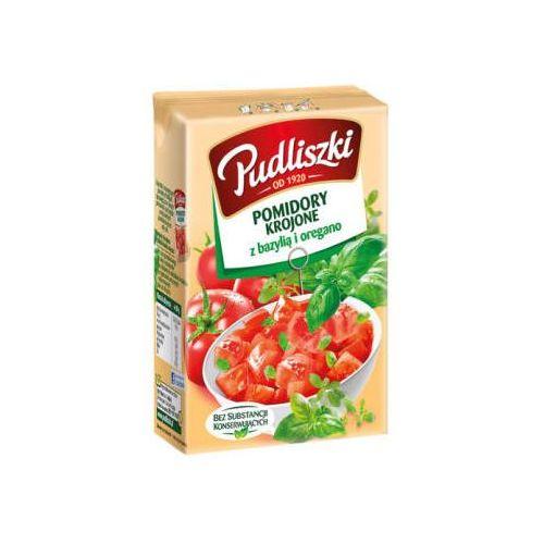 Pomidory krojone z bazylią i oregano 390 g marki Pudliszki