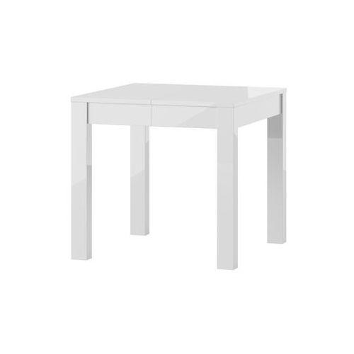 VEGA biały stół kwadratowy wysoki połysk - rozkładany