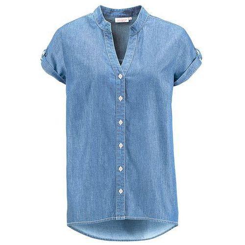 Koszula dżinsowa z krótkim rękawem  jasnoniebieski marki Bonprix