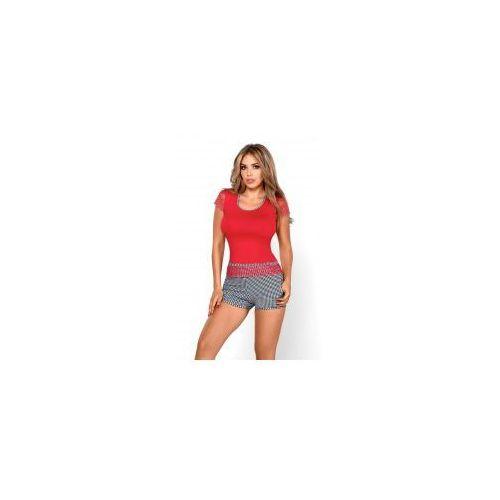 Piżama damska z krótkimi szortami model roxy new koralowa marki Hamana