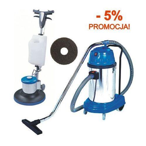 Zestaw do czyszczenia podłóg: szorowarka jednotarczowa + odkurzacz 30L Maszyna czyszcząca do podłóg, maszyna do mycia podłogi