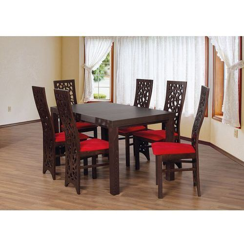 Rzeźbione oparcia krzeseł hit komplet stół + 6 krzeseł ze sklepu Sandow.com
