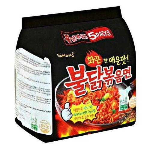 Ramyun o smaku ostrego kurczaka, ogniście ostry 5 x 140g - Samyang (8801073140578)