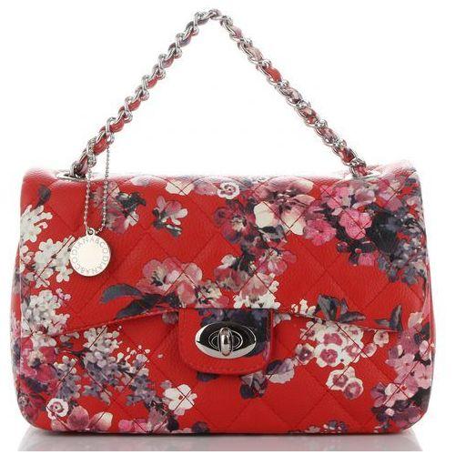 217ee019b2bf8 Modne pikowane torebki damskie firmowe listonoszki w kwiaty renomowanej  marki czerwone (kolory) marki Diana&co 119,00 zł przeurocza listonoszka  żeńska od ...