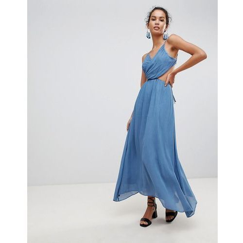 Glamorous Cut Out Cami Maxi Dress - Blue