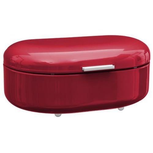 Metalowy chlebak RETRO, pojemnik na pieczywo - kolor czerwony, 40 x 25 x 17 cm