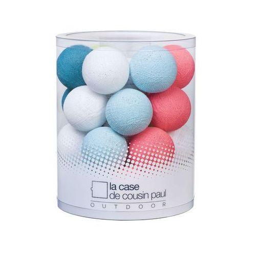 BlUE LAGOON - Girlanda świetlna zewnętrzna LED Biały/Niebieski/Różowy Dł.920cm, 025-001