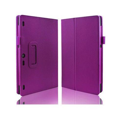 4kom.pl Fioletowe etui typu stand cover lenovo tab 2 a10-30 + szkło hartowane - fioletowy