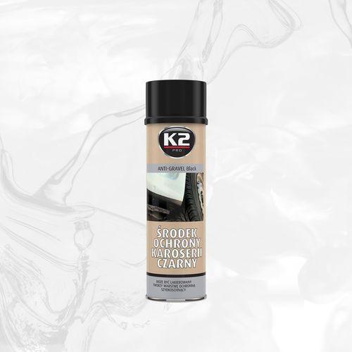 K2 Środek ochronny karoserii spray 500ml czarny baranek, może być lakierowany