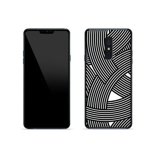 LG G7 Fit - etui na telefon Fantastic Case - biało-czarna mozaika, kolor wielokolorowy
