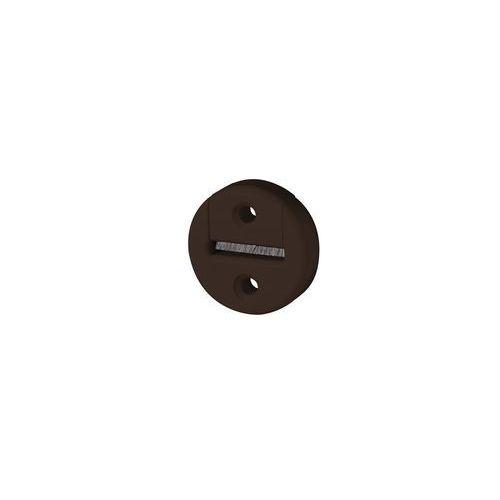 Okrągła prowadnica taśmy z uszczelnieniem szczotkowym, otwór 23 mm, brązowa