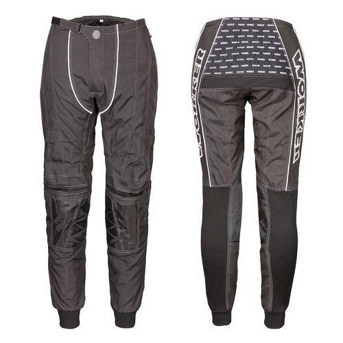 Spodnie motocross razzor senior, czarny, xl marki Worker