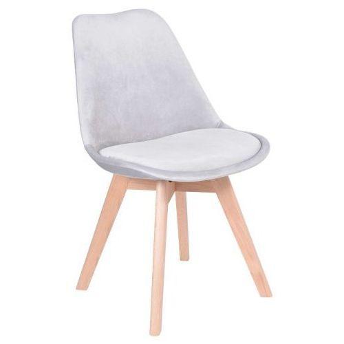Krzeslaihokery Krzesło hugo aksamit szare
