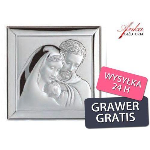 Święta rodzina -obrazek srebrny -wyjątkowy-na prezent- grawer marki Valentini