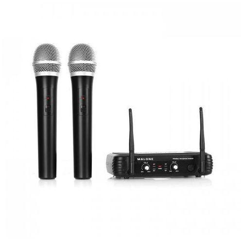 UHF-250 Duo1 2-kanałowy zestaw mikrofonów bezp. UHF