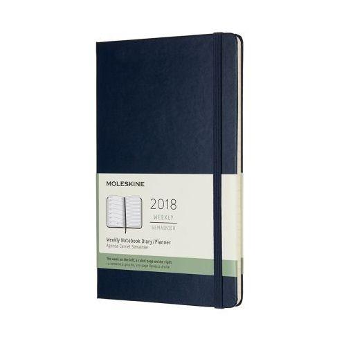 Kalendarz Moleskine 2018 Weekly, L, jasny zielony
