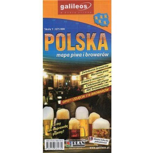 Polska - mapa piwa i browarów, 1:875 000, praca zbiorowa