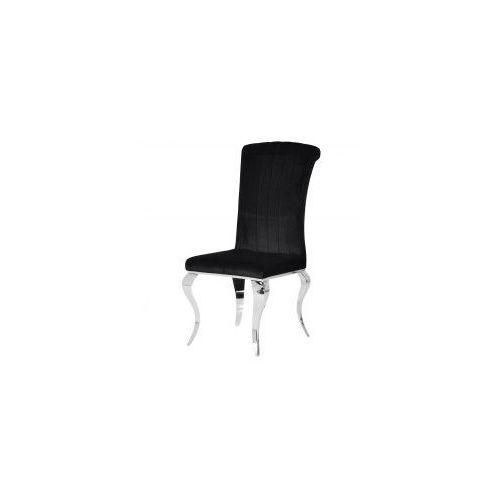 Krzesło glamour Stanley Black - nowoczesne krzesło tapicerowane (5908273396699)