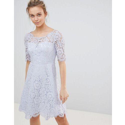 Glamorous Lace Skater Dress - Blue, 1 rozmiar