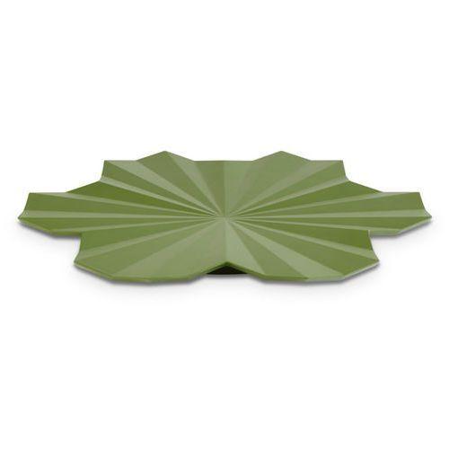 Aps Półmisek dekoracyjny z melaminy w kształcie liścia o średnicy 465 mm, ciemnozielony | , lotus